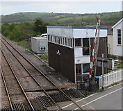 SN1916 : Whitland signalbox by Jaggery
