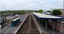 SN1916 : Through Whitland railway station by Jaggery