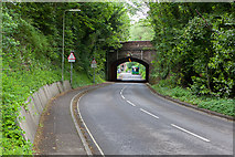 SU4828 : Bridge carrying Bar End Road over former railway by Peter Facey