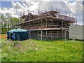 SD7907 : Scaffolding at Radcliffe Tower, May 2015 by David Dixon