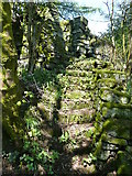 SE0722 : Steps on Sowerby Bridge FP81, Norland by Humphrey Bolton