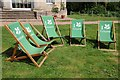 SO8844 : National Trust deckchairs by Philip Halling