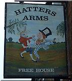 SK2803 : Sign for the Hatters Arms, Warton by JThomas
