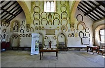 SK8608 : Oakham Castle: Horseshoes in the Great Hall by Michael Garlick