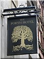 NZ2463 : Sign for The Forth Hotel, Pink Lane, NE1 by Mike Quinn