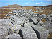 NY7723 : Blocks of gritstone, Hilton Fell by Karl and Ali