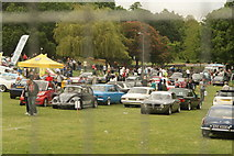 TQ3470 : View of classic cars at the National Sports Centre #3 by Robert Lamb