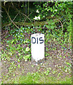 SP4649 : Distance (D I S) post along the Oxford Canal by Mat Fascione