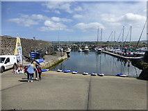 D1241 : Slipway, Ballycastle Harbour by Kenneth  Allen