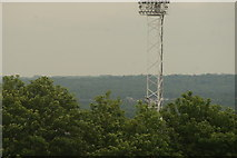 TQ3370 : View of one of the floodlights of the National Sports Centre from the Crystal Palace terrace #2 by Robert Lamb