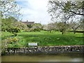 ST7960 : Back garden apple orchard, south of Winsley by Christine Johnstone