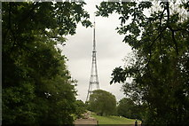 TQ3370 : View of the Crystal Palace TV transmitter from the Crystal Palace terrace by Robert Lamb
