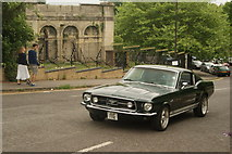 TQ3370 : View of a Mustang exiting Crystal Palace Park by Robert Lamb
