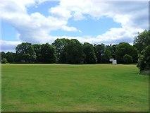 SK1632 : Cricket Pitch, Sudbury Hall Estate (National Trust) by Stuart Shepherd