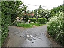 TL9449 : Junction at Whelp Street, Preston St. Mary by Roger Jones