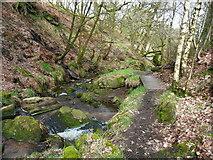 SE0722 : A little bridge on Elland FP80, Greetland by Humphrey Bolton