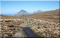 NG4427 : Path heading north-west crossing Bealach a' Mhàim by Trevor Littlewood