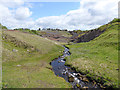 NY6159 : Tarn Beck and the old Tindale Spelter Works by Oliver Dixon