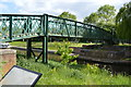 SK8975 : Foss Dyke Footbridge by John M