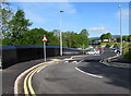 ST2787 : Pye Corner railway station approach, Newport by Jaggery