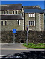 SO1609 : Police vehicles only sign at the edge of A4046 in Ebbw Vale by Jaggery