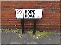 SE3033 : Hope Road sign by Adrian Cable