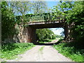TR1846 : Lane passing over the former Elham Valley Railway at Wingmore by Marathon