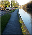SO8555 : Canalside path in Worcester by Jaggery