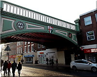 SO8455 : North side of Foregate Street railway bridge, Worcester by Jaggery