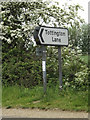 TM1080 : Roadsign on the A1066 High Road by Geographer