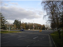 TL4661 : Exit from Cambridge Science Park to Milton Road by Richard Vince