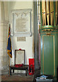 TG3613 : St Mary's church in South Walsham - war memorials by Evelyn Simak