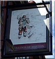 NZ3252 : Sign for the Shoulder of Mutton Inn, Shiney Row by JThomas