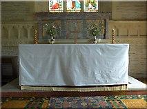 SS6243 : St Thomas, Kentisbury: altar by Basher Eyre