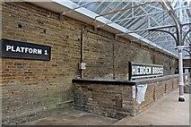 SD9926 : Platform 1, Hebden Bridge railway station by El Pollock