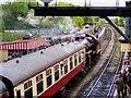 SD7916 : Steam Train at Platform 1, Ramsbottom Station by David Dixon