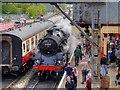 SD7916 : Passing Trains at Ramsbottom by David Dixon