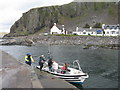 NM7417 : The Easdale ferry by M J Richardson