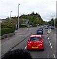 NJ9005 : Queen's Road traffic lights by Stanley Howe