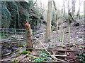 SE0722 : Fences across Sowerby Bridge FP148 (20) by Humphrey Bolton