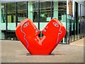 TQ3083 : Sculpture Outside Kings Place Arts Building by David Dixon