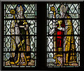 SU8504 : Cloister Stained glass window, Chichester Cathedral by Julian P Guffogg