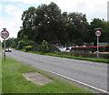 SU3620 : End of the 30 zone at the southern edge of Romsey by Jaggery