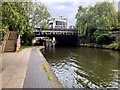 TQ2984 : Regent's Canal, Bridge and Steps at St Pancras Way by David Dixon