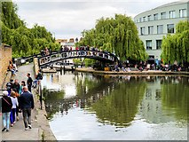 TQ2884 : Roving Bridge over the Regent's Canal at Camden Market by David Dixon