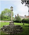ST5161 : Churchyard Cross and Old Rectory, Butcombe by Derek Harper