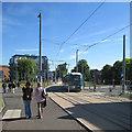 SK5638 : Tram driver training near Queen's Walk tram stop by John Sutton