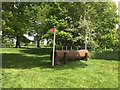 SJ6938 : Brand Hall Horse Trials: cross-country obstacles: log by Jonathan Hutchins
