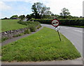 ST6333 : Wonky traffic sign at the bottom of Ansford Hill, Castle Cary by Jaggery