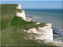 TV5795 : Beachy Head Lighthouse from Shooters' Bottom by Marathon